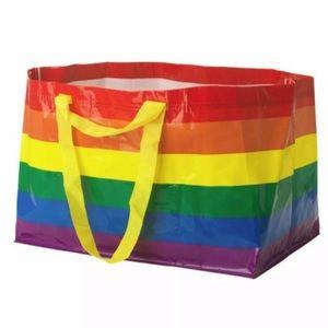 (2) IKEA Rainbow Pride Large Shopping Tote Bags